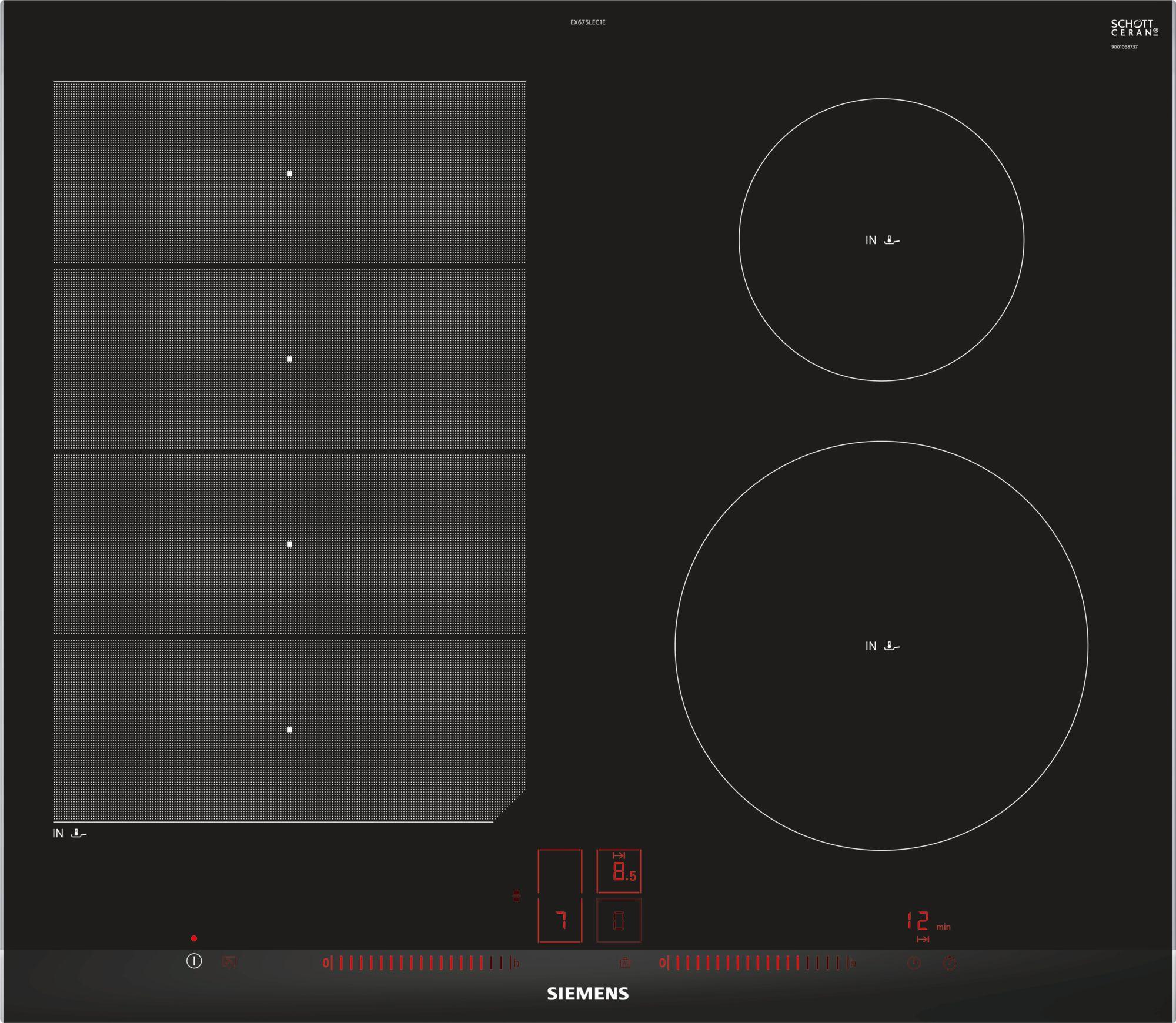 Piano cottura ad induzione 60 cm Siemens - EX675LEC1E - Logica snc